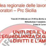 Assemblea regionale delle lavoratrici e dei lavoratori – Prc Sicilia